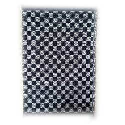 Checkered Leather Durries