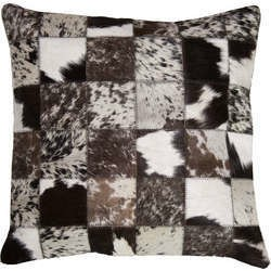 Patchwork Leather Cushion Covers