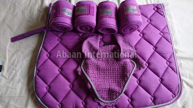 Horse Matching Saddle Pad Set