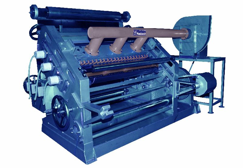 Fingerless Paper Corrugating Machine
