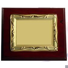 Wooden Gold Plated Plaque