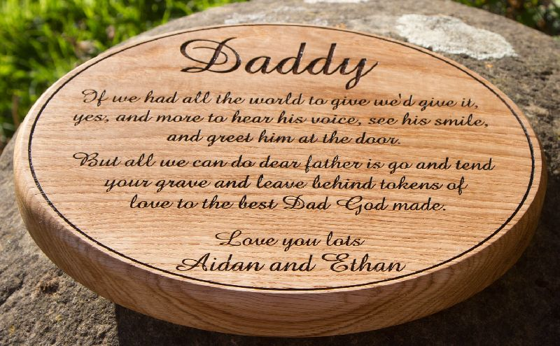 Wooden Memorial Plaque