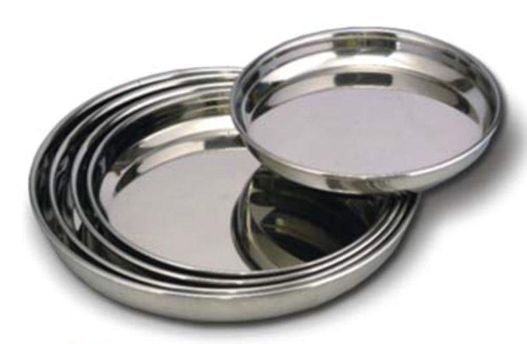 Stainless Steel Dinner Plates 01