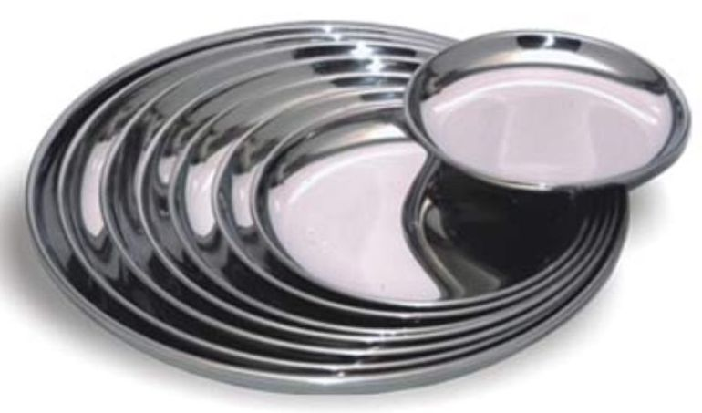 Stainless Steel Dinner Plates 02