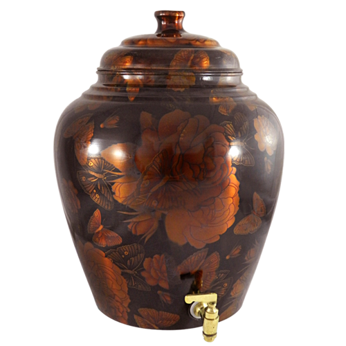 Colour Copper Matka Pot