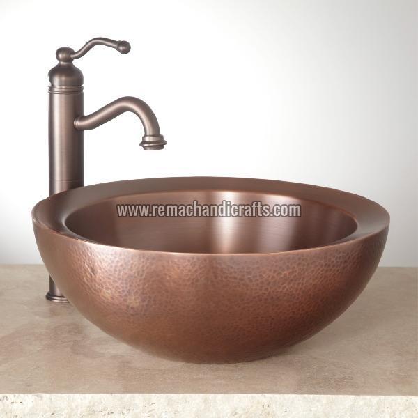 1002 Casalina Hammered Copper Vessel Sink