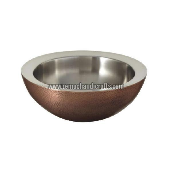 1004 Blane Hammered Copper Vessel Sink