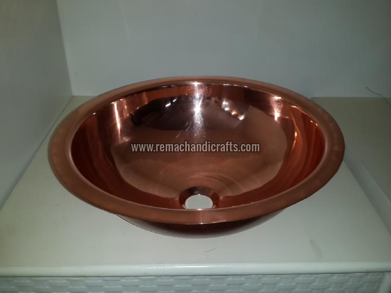2002 Undermount Hammered Round Copper Sink