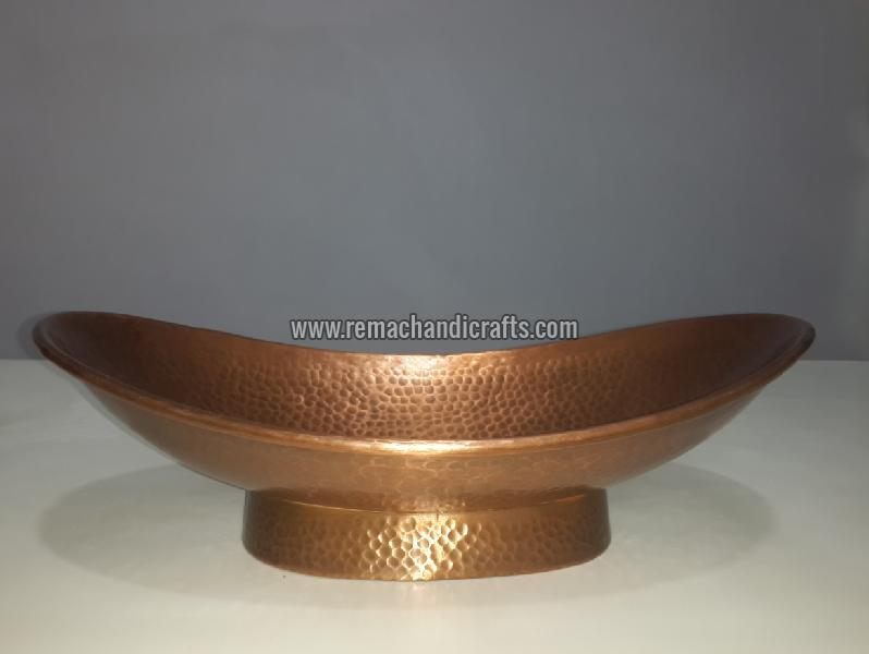 3001 Boat Shaped Copper Bathroom Sink 01