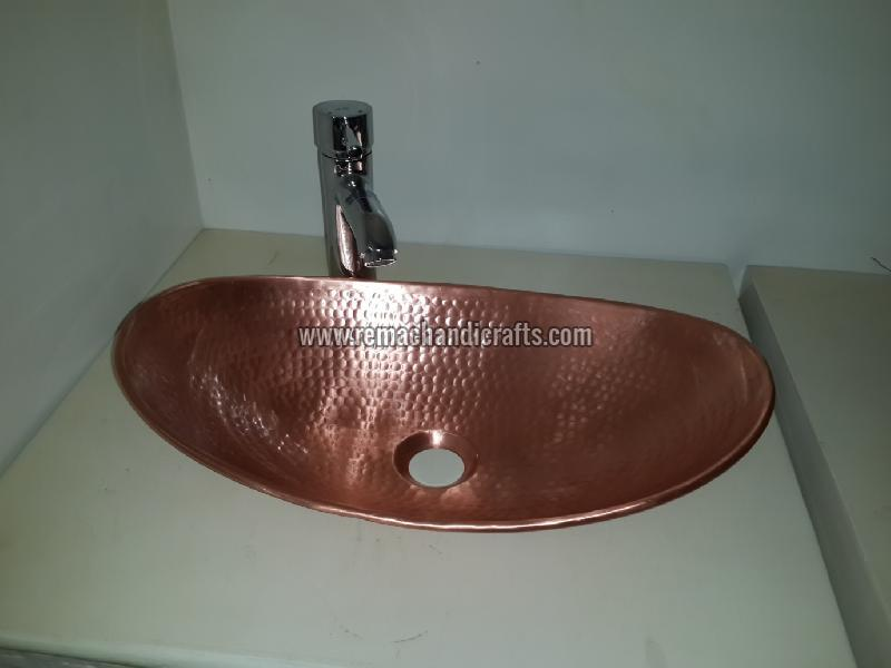 3003 Boat Shaped Copper Bathroom Sink