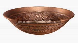 3008 Round Embossed Copper Sink