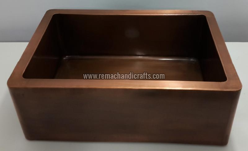 4001 Front Apron Copper Kitchen Sink