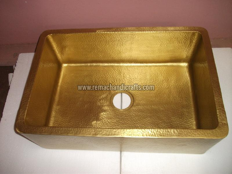 4002 Front Apron Brass Kitchen Sink
