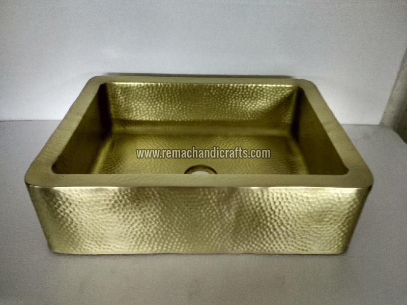 4005 Rectangle Counter Brass Kitchen Sink