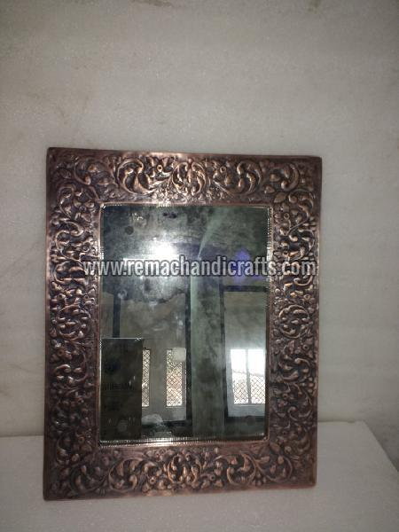 6004 Rectangular Embossed Copper Mirror