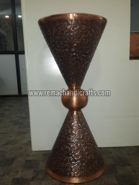 Hammered Copper Pedestal Sink