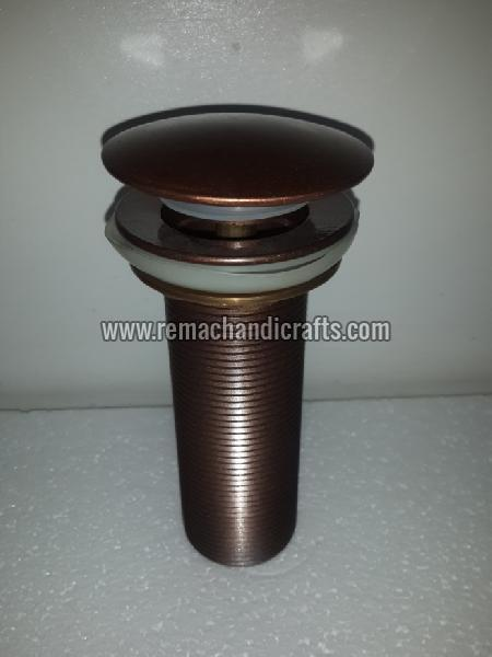 9001 Brass Pop-up Mushroom Type Bathroom Drain