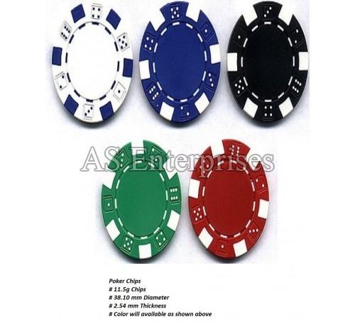 100 Pcs Diced Poker Chip Set