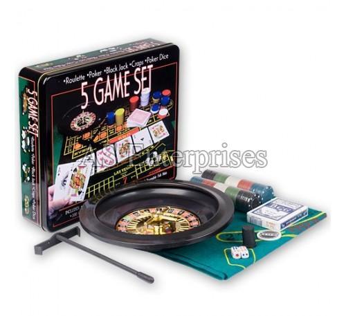 5 In 1 Casino Game Set