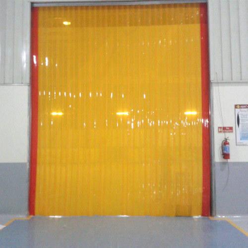 Yellow PVC Strip Curtain