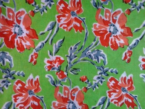 Flower Print Cotton Fabric