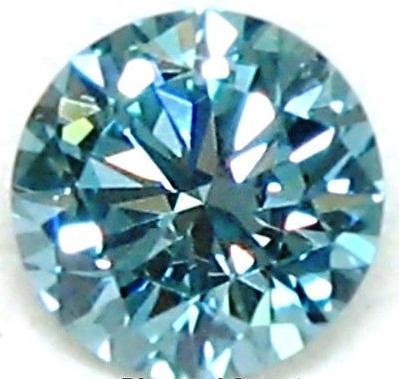 Blue Moissanite Diamond 01