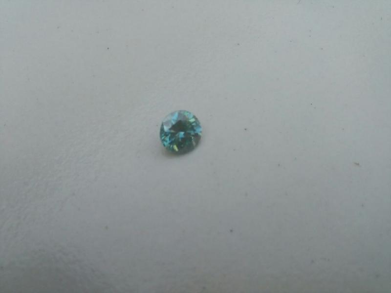 Blue Moissanite Diamond 05