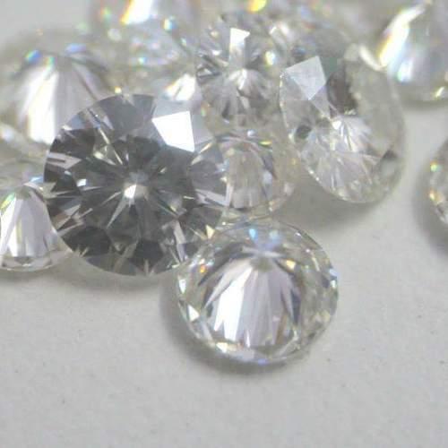 White Moissanite Diamond 02