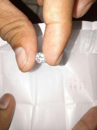 White Moissanite Diamond 04