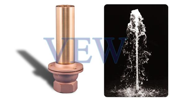 Copper Adjustable Jet Aerated Effect Fountain Nozzle