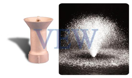 Round Tulip Aerated Effect Fountain Nozzle