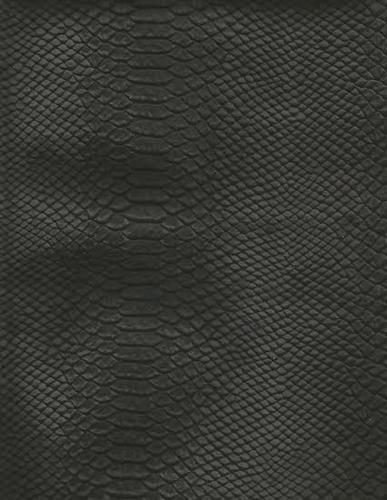 Snake Print Split Cow Leather