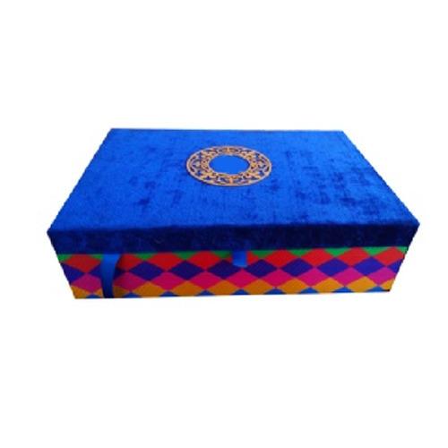 Blue Velvet Wedding Invitation Box