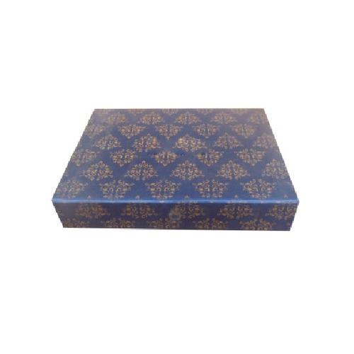 Golden Printed Wedding Invitation Box