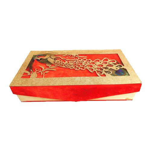 Peacock Printed Wedding Invitation Box