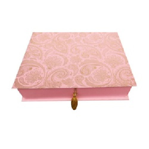 Pink Printed Wedding Invitation Box