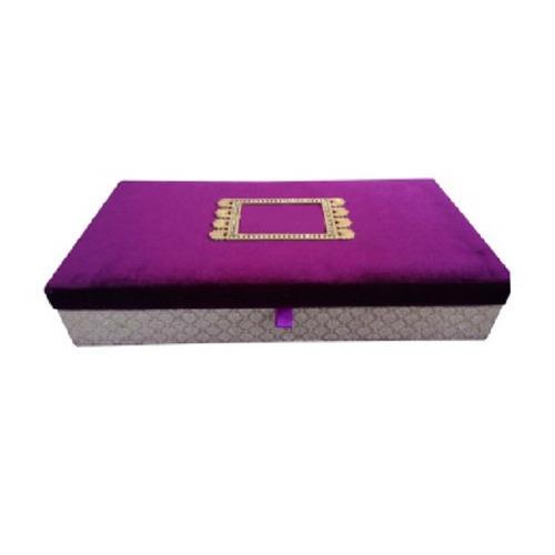 Purple Velvet Wedding Invitation Box