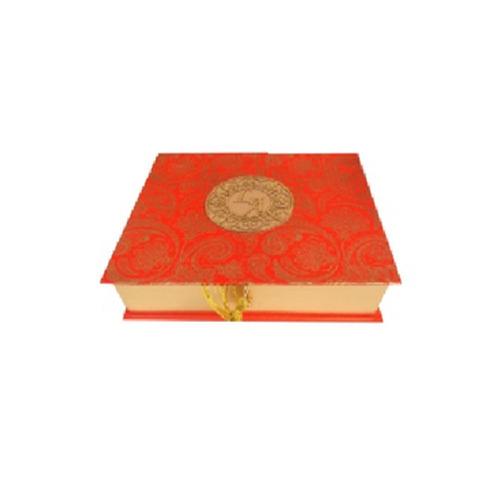 Red Jute Wedding Invitation Box