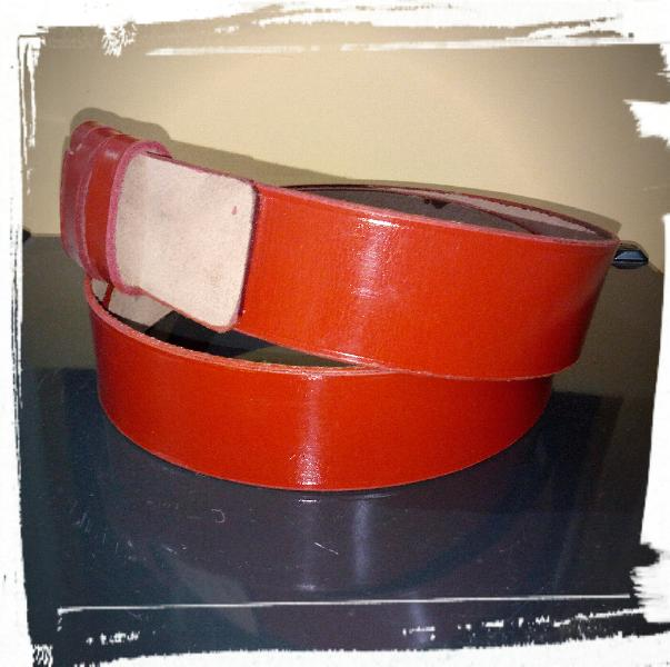 Leather Police Belt