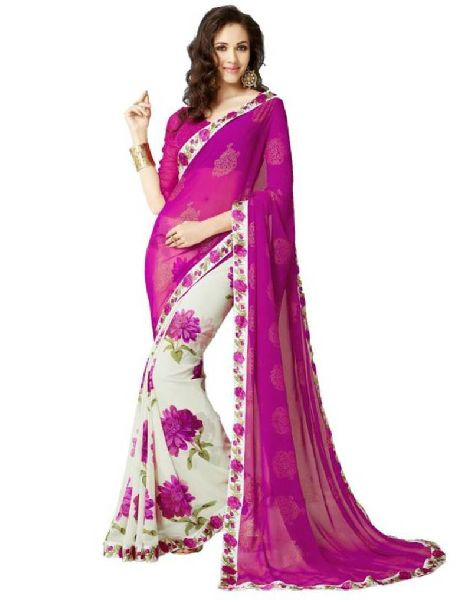 Ladies Georgette Saree 02