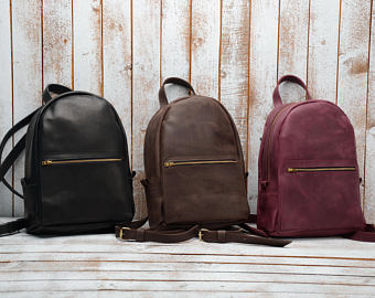 Leather Backpack 01