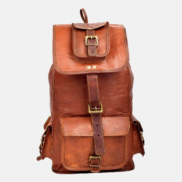 "14"" Small Leather Rucksack For Men And Women"