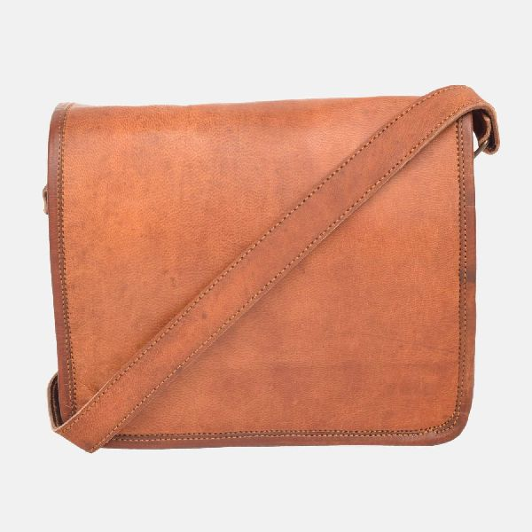 "15"" Handmade Vintage Leather Messenger Bag Bloggs"