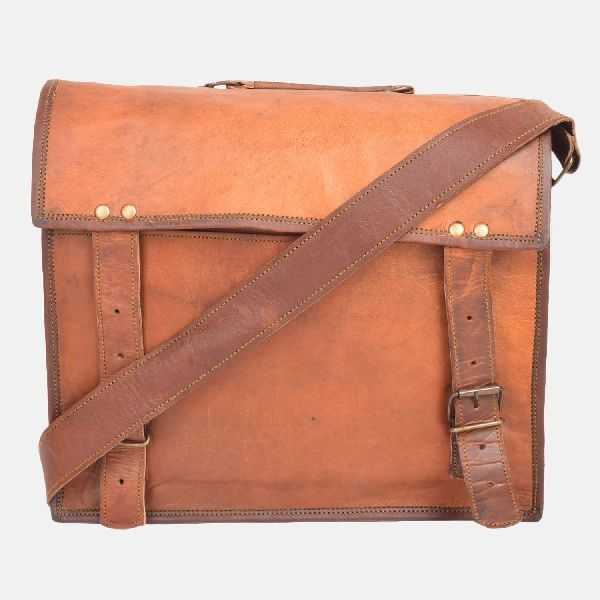 "15"" Leather Laptop Briefcase"