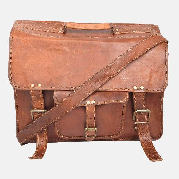 Leather Laptop Bag 16""