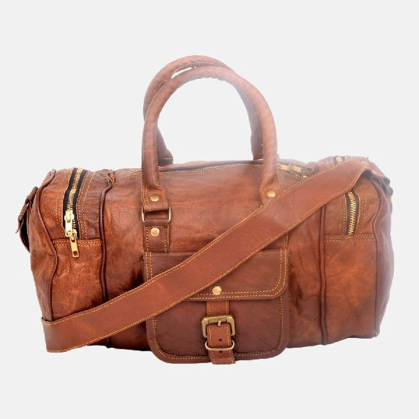 "18"" Small Leather Weekend Travel Bag"