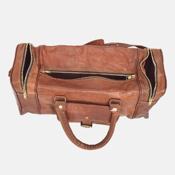"""28"""" Large Handmade Sturdy Leather Travel Bag Boswell"""