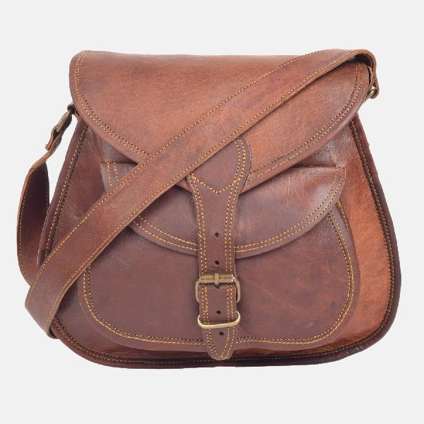 "9"" Small Leather Shoulder Bag For Women"