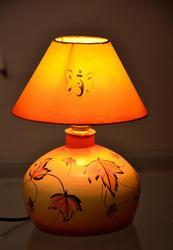 Terracotta Printed Table Lamps