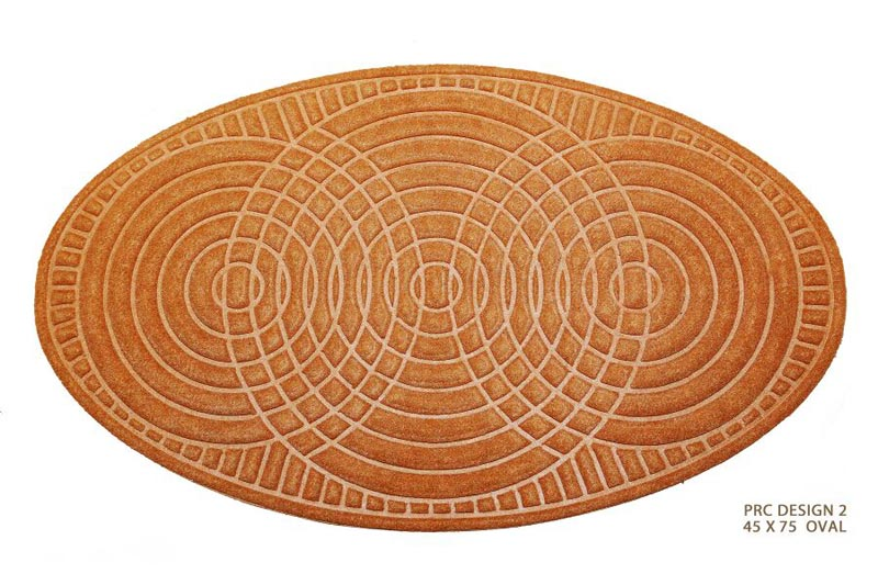 Polypropylene Rubber Backed Mat Oval